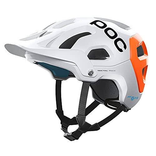 POC Tectal Race Spin NFC Casco Ciclismo Unisex Adulto, Hydrogen White/Fluorescent Orange AVIP, XS-S (51-54cm)
