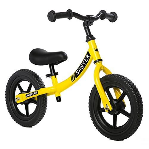 Sawyer - Bicicleta Sin Pedales Ultraligera - Niños 2, 3, 4 y 5 años (Amarillo)*