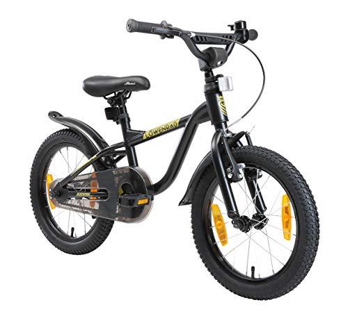 LÖWENRAD Bicicleta Infantil para niños y niñas a Partir de 4-5 años   Bici 16' Pulgadas con Frenos   Negro