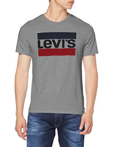 Levi's Graphic Camiseta, 84 Sportswear Logo Grey Midtone Grey Htr, L para Hombre