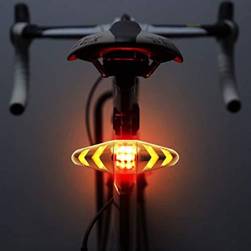 MASO - Luz trasera para bicicleta LED con mando a distancia inalámbrico y modos multifuncionales...*