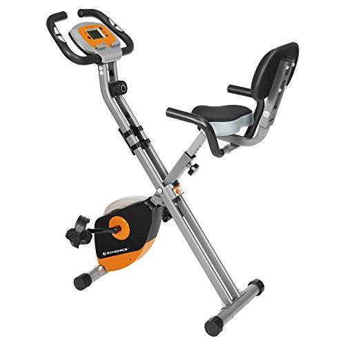 SONGMICS Bicicleta de Ejercicio, Bicicleta Estática, Bicicleta Fitness en Casa, Plegable con...*