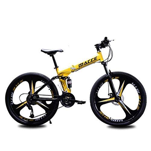 Y&XF Plegable Bicicleta De Montaña, Motos De Nieve Playa De Bicicletas, Bicicletas De Doble Disco...*