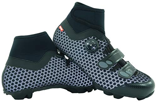 LUCK Zapatillas de Ciclismo para Invierno Winter MTB, con Suela de Carbono SHD, y Sistema rotativo...*