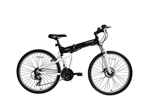 Bicicleta Mtb Plegable Ecosmo 26Af18Bl con Ruedas de 26', Marco de Aluminio, Cambios Shimano