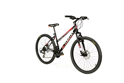 Moma Bikes Bicicleta Montaña SUN 26', SHIMANO 21V. Doble Freno Disco, Susp. Delant.