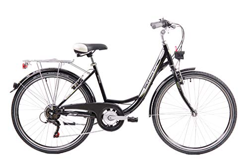 F.lli Schiano EleganceS Bicicleta de Ciudad, Mujer, Negro, 26''