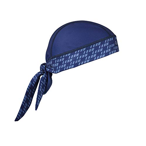 GripGrab Bandana Protección UV Sotocasco Gorra de Ciclismo Transpirable Pañuelo Sudor Cabeza en 8 Colores Calentadores Babeza, Adultos Unisex, Azul Marino, Talla Única