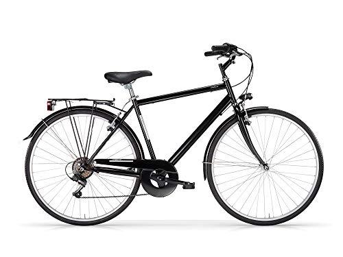 MBM Touring U TKK 28' Acc 6V, Bicicleta para Hombre, Negro Brillante A01, 50