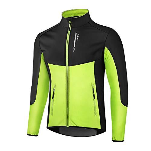 INBIKE Chaqueta Soft Shell de Ciclismo y Senderismo para Hombre Maillot Deportivo Cortavientos...*