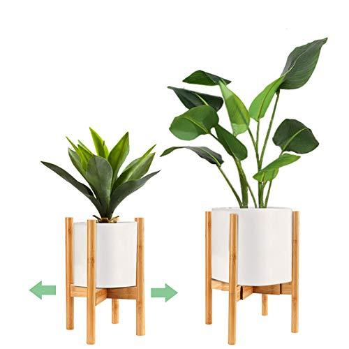 Surplex Soporte para Plantas Ajustable,Soporte de Plantas Expandible Retro Soporte para Exhibición de Macetas, Moderno Soporte para Macetas de Flores para Interior y Exterior