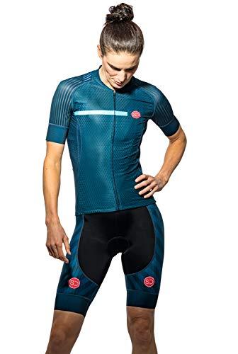 SUNDRIED Womens Pro Rango de Ciclo de Jersey de la Bici Jersey de la Bici del Camino Desgaste del Ciclo Bicicleta de montaña Camisas (Azul, XS)