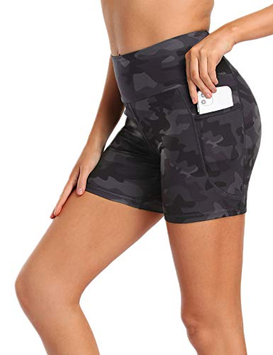 MOVE BEYOND Pantalones Cortos Deportivo para Mujer con 2 Bolsillos Laterales de Cintura Alta Shorts...*