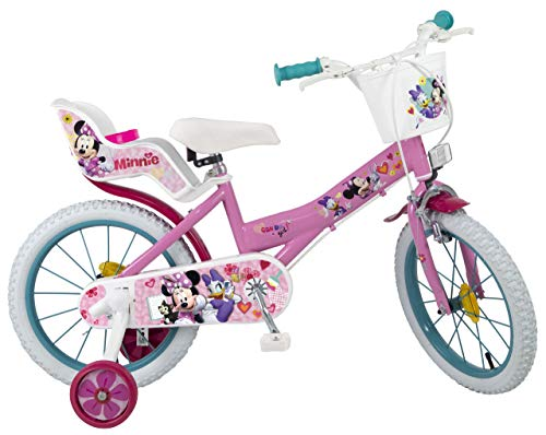 Toimsa Minnie 16' Bicicleta Infantil, Rosa