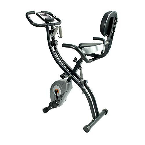 ATIVAFIT Bicicleta de Ciclismo Interior Plegable magnética Vertical Bicicleta estática giratoria reclinable Bicicleta de Ejercicio