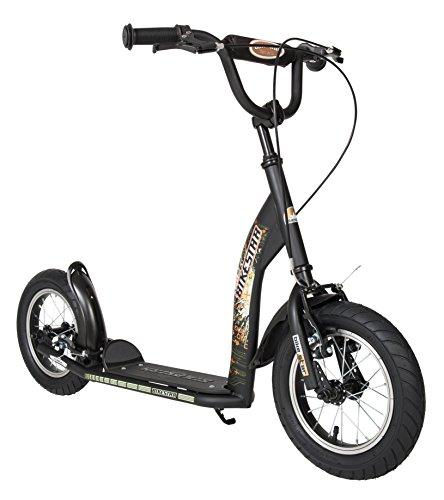 BIKESTAR Patinete Infantil Patineta Scooter Premium Scooter para niños y niñas a Partir de 6-7 años | Edición 12' Sport | Negro