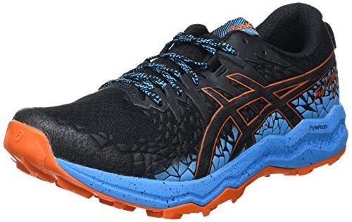 Asics Fujitrabuco Lyte, Trail Running Shoe Hombre, Black/Digital Aqua, 44.5 EU