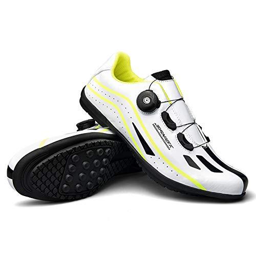JINFAN Zapatillas De Ciclismo para Hombre,Ejercicio De Ciclismo Interior Sin Bloqueo - Transpirable...*