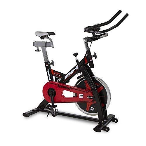 BH Spinred H9132 - Bicicleta estática (22 kg, con volante, transmisión por cadena), color negro y...*