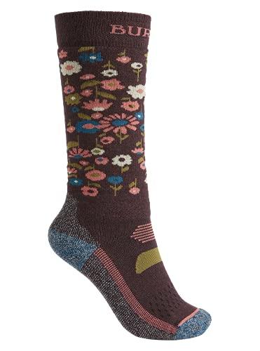 Burton Kids' Performance Midweight Sock, Flower Camo, SmallMedium