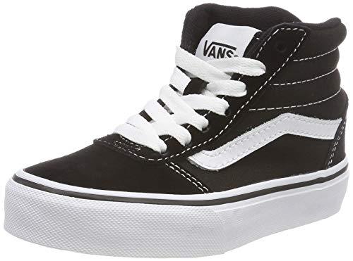 Vans Ward Hi Classic Suede/canvas Zapatillas altas Unisex Niños, Negro ((Suede/Canvas) Black/White...*