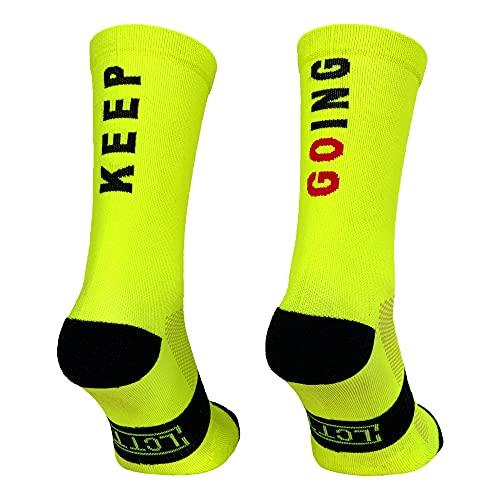 Calcetines Deportivos Técnicos Compresivos, diseñados para el Alto Rendimiento en la Práctica Deportiva de Running, Ciclismo, CrossFit, Gimnasio.Coolmax,Termorregulador y antibacteriano.