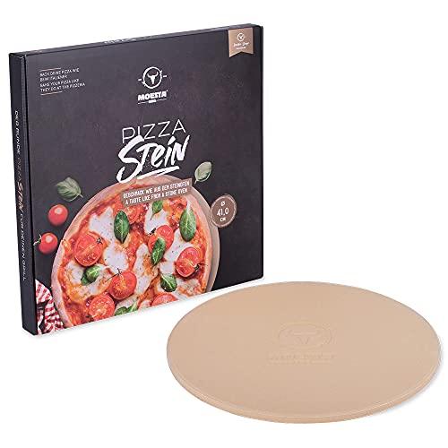 Moesta-BBQ Piedra para hornear pizzas, no. 1, redonda, 36,5 o 41 cm de diámetro -, 41 cm