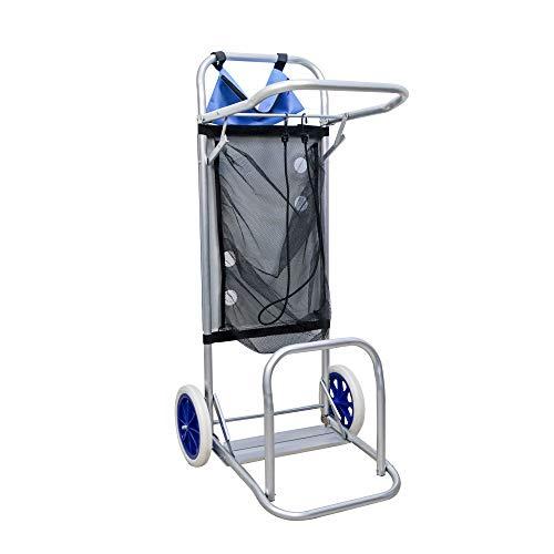 Arcoiris Carro portasillas Plegable, 110x38x42cm, Carro playa plegable de Aluminio para Camping y Playa Nuevo y Mejorado (Carro Portasilla)