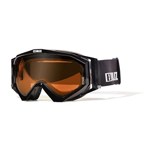 BLIZ Unisex - Gafas de esquí para adultos Edge 18 BLACK - negro/cristal - naranja S2 - mediano*