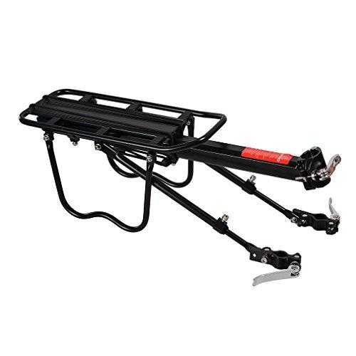 ROCKBROS Portaequipajes Trasero para Bicicleta Liberación rápida Ajustable con Reflector y Guardabarros de Aleación de Aluminio Carga Máxima 50 kg