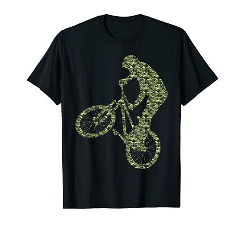 BMX Bike Rider Camuflaje Diseño BMX Racing Camiseta