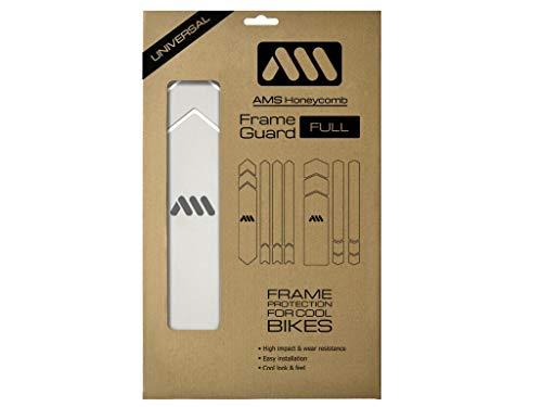 All Mountain Style AMSFG5CLSV Protector de Cuadro Full – Protege tu Bicicleta de posibles arañazos y Golpes, Unisex Adulto, Transparente/Plata