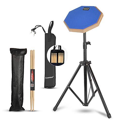 """Caja sorda percusión Drum Practice Pad 8"""" de práctica almohadilla de batería Transporte para Entrenamiento drum pad Pad de Práctica de Batería con Bolsa de Transporte Con baquetas,bolsa de baquetas"""