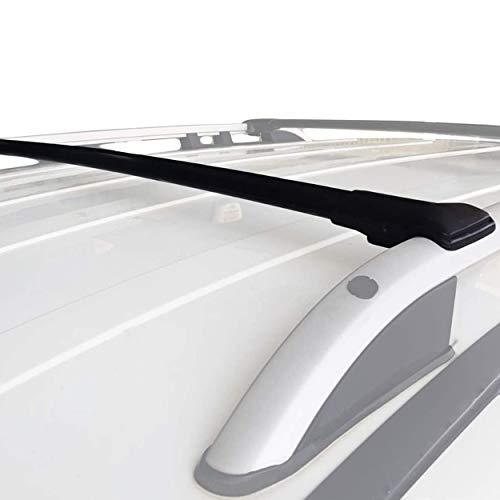 accessorypart Para Dacia Duster 2014-2018 Barras de techo Portaequipajes Barras Transversales Aluminio Negro