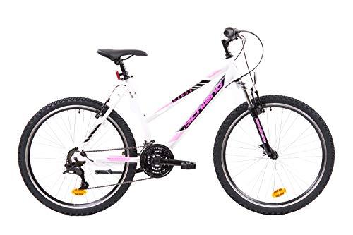 F.lli Schiano Range Bicicleta Montaña, Women's, Blanco-Rosa, 26''