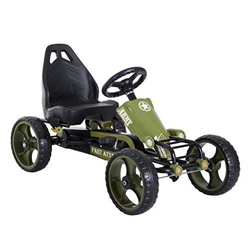 HOMCOM Go-Kart a Pedales para Niños de +3 Años Coche de Pedales con Embrague Freno Asiento...*