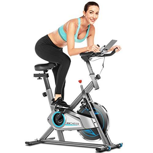 ANCHEER Bicicleta de Spinning, Bici estática Indoor de Volante de Inercia de 10 kg, Bicicletas de...*
