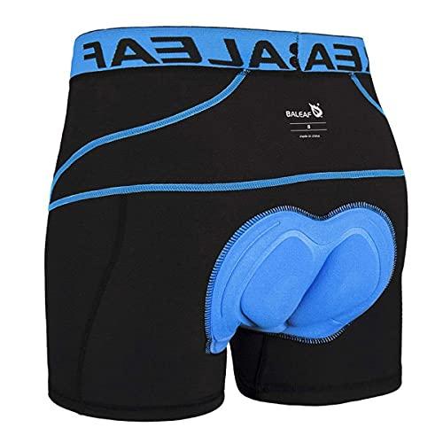 Baleaf - Ropa interior deportiva para hombre, color negro / azul, talla L*