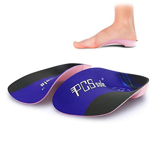 PCSsole 3/4 Plantillas de calzado ortopédico Soportes de arco alto Plantillas de zapatos para la fascitis plantar,Pie plano, Sobre-pronación,Alivio del dolor del talón (EU-(38-42))