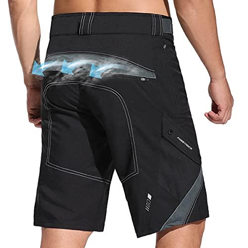 Pantalones cortos para bicicleta de montaña para hombre Pantalones cortos para MTB sin relleno