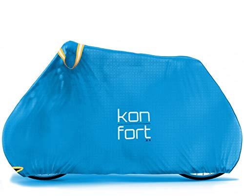 Kon-fort Funda Bicicleta Exterior Impermeable Tejido Ripstop Plus Alta Gama, Resistente y...*