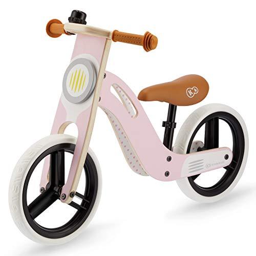 Kinderkraft Bicicleta sin Pedales UNIQ, Ligera, de Madera, 2+ Años, Rosa*
