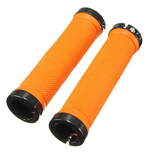bobotron 1 par de puños roscados para manillar de bicicleta, trekking, manillar de BMX, color naranja