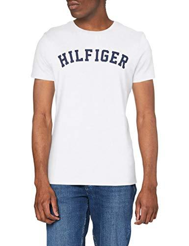 Tommy Hilfiger Logo Camiseta de Cuello Redondo,Perfecta para El Tiempo Libre, Blanco (White), M para...*