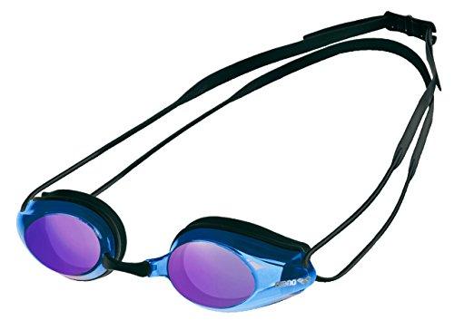 Arena Tracks Mirror Gafas de Natación, Unisex Adulto, Negro/Azul, Universal*