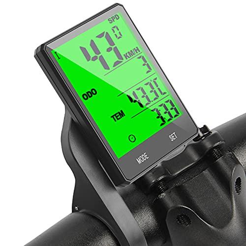 flintronic Cuentakilómetros para Bicicleta, Velocímetro inalámbrico Bicicleta con Pantalla LCD y...*