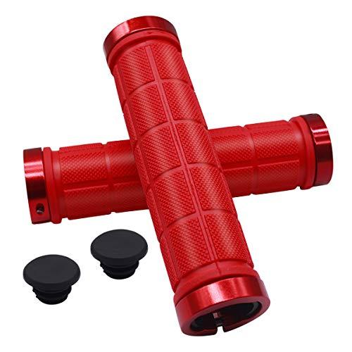 NATUCE 2PCS Puños de Manillar de Bicicleta 22mm, Cerradura Doble y Caucho Diseño Antideslizante de...*