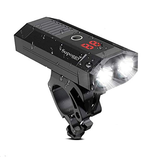 Supoggy Luz de Bicicleta/leces Bicicletas, Luz Bici Recargable USB de 5200mAh con Batería Móvil...*