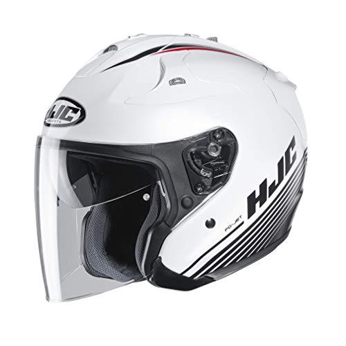 Casco de moto HJC FG-JET PATON MC10, Blanco/Negro, M