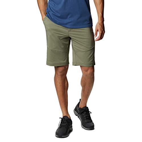 Columbia Pantalones Cortos Tech Trail para Hombre, Color Verde Piedra, 38x10